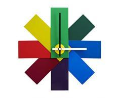normann copenhagen Orologio da Parete, Acciaio, Multicolore, 28.5 x 28.5 x 28.5 cm