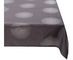 Douceur d interno Tovaglia rettangolo Atomo poliestere antracite 150Â x 300Â cm