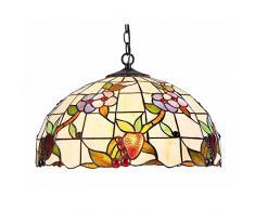 Interfan lampada a sospensione tiffany fiancate E27, Multicolore