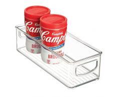 InterDesign Cabinet/Kitchen Binz Contenitore cucina, Piccolo organizer cucina in plastica, trasparente
