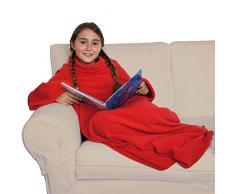 Innoliving Caldo Relax Small Coperta, Pile, Rosso, 110 x 150 cm