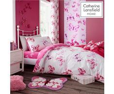 Catherine Lansfield, biancheria da letto con farfalla, rosa, Rosa, 27 x 4 x 37.5 cm
