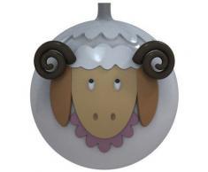 Alessi AMJ13 12 Pecorella - Pallina per albero di Natale a forma di montone - set da 4