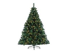 Kaemingk Albero di Natale a LED 150cm, Metallo, Verde (Grün), 150 cm