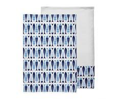 Premier Housewares–Pesci strofinacci da cucina, blu, Set di 2