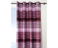 Lovely Casa R66503003 Tiago - Tenda con Occhielli in Poliestere, 135 x 240 cm, Colore: Viola