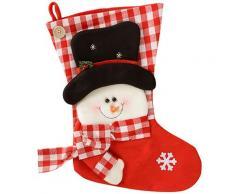 WeRChristmas - Calza di Natale con pupazzo di neve, colore: rosso/bianco, dimensioni: 48 cm