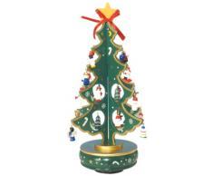 Albero di Natale Verde in Legno con Tanti Piccoli Pendenti