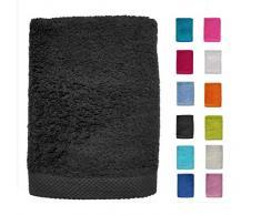 DHestia - Set di Asciugamani da Bagno e Doccia in Cotone 100%, 500 g/m², Colori e Misure Grandi, 100 x 150 cm, Colore: Nero