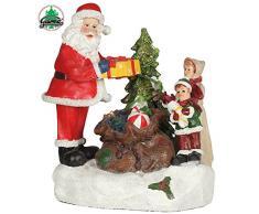 Guirma Carillon Musicale Babbo Natale, con luci e Suoni, Multicolore, 17 x 13 cm