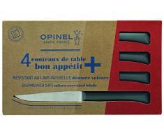 Opinel Coltello da tavola Set di Bon Appetit + Antracite, Set di coltelli Bon Appetit +, Antracite, Blu, M, 1012384710