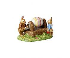Villeroy & Boch Bunny Tales Statuetta di Porcellana Macchina per dipingere Le Uova, Multicolore