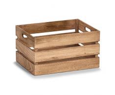 Zeller, contenitore in legno, stile Vintage, bianco, Legno, naturale, 39 x 29 x 21 cm
