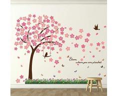 Wallflexi Wall Stickers Spring Bloom murale Decalcomanie Arte Soggiorno Scuola Materna Ristorante Hotel Cafe Ufficio Decorazioni per la casa Decorazione, Multicolore