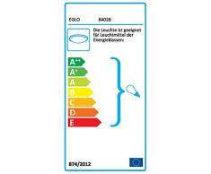 Eglo 84028 - Lampada da parete in acciaio con vetro satinato, colore: Argento