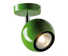 SLV Wandstrahler luce degli occhi 1 faretto soffitto, GU10, verde felce 149065
