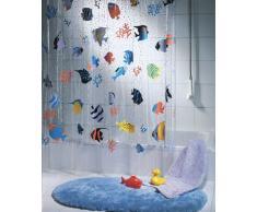 Spirella Fish Multicolor 10.21960 Tenda per Doccia in Vinile 180x200 cm