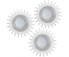 L.A.M.A. Lama Set di specchi da Parete 75x25x1.5 cm Bianco