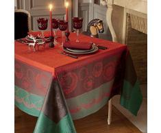 GarnierThiebaut 32637Â Christmas Forest Tovaglia Antimacchia cotone rosso 365Â x 175Â cm