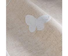 Il giardino delle cicale opalina Runner da tavolo, Poliestere, bianco, 40 x 140 cm
