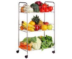 Premier Housewares 509033 3 Carrello da Cucina, Argento
