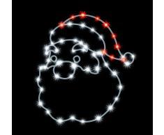 Lealight JT98L - Luci da parete a forma di Babbo Natale