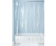 InterDesign Rivestimento Tenda Doccia Senza in PVC PEVA Diametro 10-183 x 183 cm, Trasparente