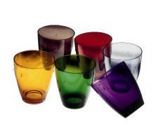 MEPRA, Set di Bicchieri tumblers in policarbonato, 33 cl, 6 pz.