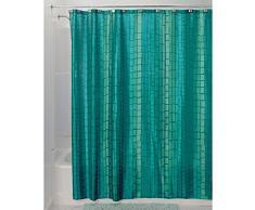 InterDesign Moxi Tenda Doccia, Tessuto, Blu, 180x0.2x180 cm