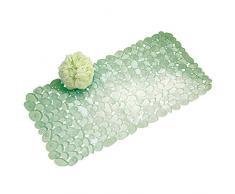 InterDesign Pebblz Tappetino, Vinile, Verde, 67.5x35x0.2 cm