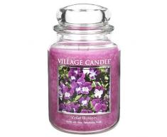 Village Candle 106326195 Violet Blossom Grande Vaso, Vetro, Viola, 10.4 x 10.1 x 17.7 cm
