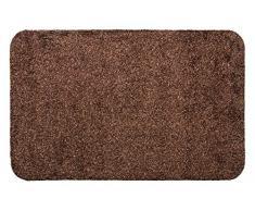Andiamo 700611 Samson - Zerbino per ingresso in cotone, lavabile in lavatrice a 30 gradi, 60 x 100 cm, colore marrone