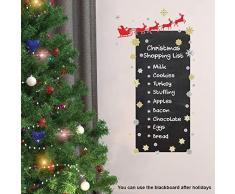 wallflexi decorazioni di Natale adesivi murali Renna Lavagna Adesivi Murali Soggiorno Bambini Scuola Materna ristorante hotel casa, multicolore