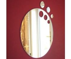 Super Cool Creations Specchio Ovale - 60 cm x 38 cm (5 mm di Spessore).