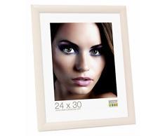 Deknudt Frames Promo Ideale Cornici In Legno, Molte Dimensioni e Colori, Cornice Foto - 40x50, Bianco