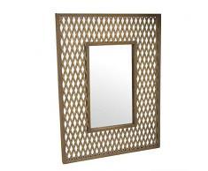 Dcasa bambù Specchi da Parete Mobili Adesivi Decorazione della Casa Unisex Adulto, Colore, Unico