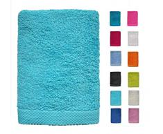 DHestia - Set di Asciugamani da Bagno e Doccia, 100% Cotone, 500 g/m², Colori e Misure Grandi, Colore: Turchese, 100 x 150 cm (1 unità , 100 x 150 cm