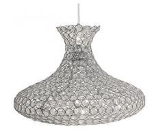 Miasma Oaks Lighting Lampada 9053/7 soffitto in cromo lucido telaio perline vestito con lampadario di cristallo