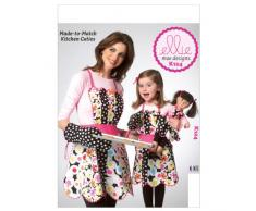KWIK-SEW PATTERNS K0124 - Cartamodello, grembiule per adulti/bambini, colore: bianco