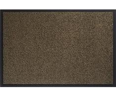 ID Opaco 8012010 Mirande Tappeto Zerbino in Fibra di Nylon e PVC, in caucciù, Colore: Marrone, 120 x 80 x 0,9 cm