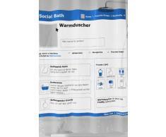 Kleine Wolke 5216700305 - Tenda da doccia Social, 180 x 200 cm, colore: Blu