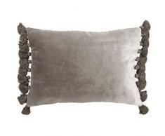 Ragged Rose, cuscino ornamentale in velluto con imbottitura interna, grigio