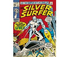 Silver Surfer 60 x 80 Centimetri Deve Vivere Tela Stampa