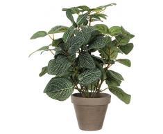Mica Decorations 966059 Pianta artificiale con foglie piccole e verdi