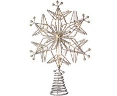 WeRChristmas, Puntale per Albero di Natale, Argento, Argento, 32 cm