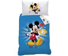 Disney Mickey pc-043973 biancheria da letto Star, cotone Renforce, 160 x 210 + 65 x 100 cm