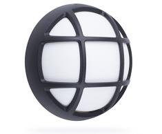 Smartwares GOL-004-HB Lampada da Parete per Esterni a LED Integriert, 7 W, Nero, 17 x 17 x 7,3 cm
