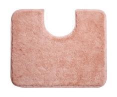 Grund, Set da bagno Ono: Tappetino sagomato per WC, Rosa, 60 x 50 cm