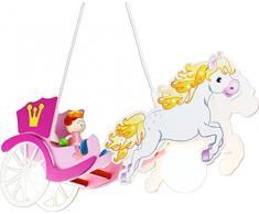 Elobra bambini Lampada da soffitto Cavalli carrozza principessa, Camera dei bambini, in legno, Rosa, a + +