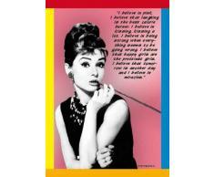 Empire 555571 - Poster con citazioni tratte dai film di Audrey Hepburn, 61 x 91,5 cm